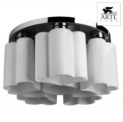 Светильник потолочный Arte lamp A3489PL-6CC CANZONEПотолочные<br>Компания «Светодом» предлагает широкий ассортимент люстр от известных производителей. Представленные в нашем каталоге товары выполнены из современных материалов и обладают отличным качеством. Благодаря широкому ассортименту Вы сможете найти у нас люстру под любой интерьер. Мы предлагаем как классические варианты, так и современные модели, отличающиеся лаконичностью и простотой форм. <br>Стильная люстра Arte lamp A3489PL-6CC станет украшением любого дома. Эта модель от известного производителя не оставит равнодушным ценителей красивых и оригинальных предметов интерьера. Люстра Arte lamp A3489PL-6CC обеспечит равномерное распределение света по всей комнате. При выборе обратите внимание на характеристики, позволяющие приобрести наиболее подходящую модель. <br>Купить понравившуюся люстру по доступной цене Вы можете в интернет-магазине «Светодом».<br><br>Установка на натяжной потолок: Ограничено<br>S освещ. до, м2: 12<br>Крепление: Планка<br>Тип лампы: Накаливания / энергосбережения / светодиодная<br>Тип цоколя: E27<br>Количество ламп: 6<br>MAX мощность ламп, Вт: 40<br>Диаметр, мм мм: 470<br>Размеры: H25xW47xL47<br>Высота, мм: 250<br>Цвет арматуры: серебристый