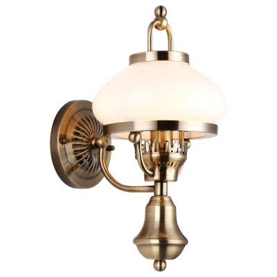 Настенный бра Arte lamp A3560AP-1AB ArmstrongРустика<br><br><br>S освещ. до, м2: 3<br>Тип лампы: накаливания / энергосбережения / LED-светодиодная<br>Тип цоколя: E14<br>Количество ламп: 1<br>Ширина, мм: 225<br>MAX мощность ламп, Вт: 40<br>Диаметр, мм мм: 170<br>Высота, мм: 345