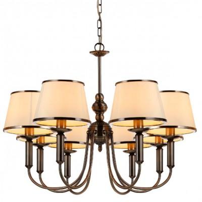 Люстра Arte lamp A3579LM-8AB AliceПодвесные<br>Компания «Светодом» предлагает широкий ассортимент люстр от известных производителей. Представленные в нашем каталоге товары выполнены из современных материалов и обладают отличным качеством. Благодаря широкому ассортименту Вы сможете найти у нас люстру под любой интерьер. Мы предлагаем как классические варианты, так и современные модели, отличающиеся лаконичностью и простотой форм.   Стильная люстра Arte lamp A3579LM-8AB станет украшением любого дома. Эта модель от известного производителя не оставит равнодушным ценителей красивых и оригинальных предметов интерьера. Люстра Arte lamp A3579LM-8AB обеспечит равномерное распределение света по всей комнате. При выборе обратите внимание на характеристики, позволяющие приобрести наиболее подходящую модель.   Купить понравившуюся люстру по доступной цене Вы можете в интернет-магазине «Светодом».<br><br>Установка на натяжной потолок: Да<br>S освещ. до, м2: 32<br>Крепление: Крюк<br>Тип лампы: накаливания / энергосбережения / LED-светодиодная<br>Тип цоколя: E14<br>Количество ламп: 8<br>Ширина, мм: 830<br>MAX мощность ламп, Вт: 60<br>Диаметр, мм мм: 830<br>Длина цепи/провода, мм: 1200<br>Высота, мм: 580<br>Цвет арматуры: бронзовый
