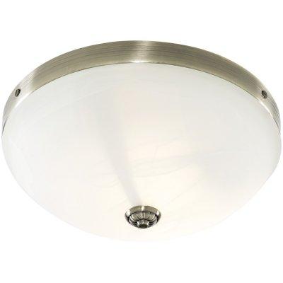 Люстра Arte Lamp A3777PL-2AB Windsor whiteКруглые<br>Настенно потолочный светильник ARTE Lamp (арте ламп) A3777PL-2AB подходит как для установки в вертикальном положении - на стены, так и для установки в горизонтальном - на потолок. Для установки настенно потолочных светильников на натяжной потолок необходимо использовать светодиодные лампы LED, которые экономнее ламп Ильича (накаливания) в 10 раз, выделяют мало тепла и не дадут расплавиться Вашему потолку.<br><br>S освещ. до, м2: 8<br>Тип лампы: накаливания / энергосбережения / LED-светодиодная<br>Тип цоколя: E27<br>Цвет арматуры: бронзовый<br>Количество ламп: 2<br>Ширина, мм: 310<br>Диаметр, мм мм: 310<br>Высота, мм: 140<br>MAX мощность ламп, Вт: 60
