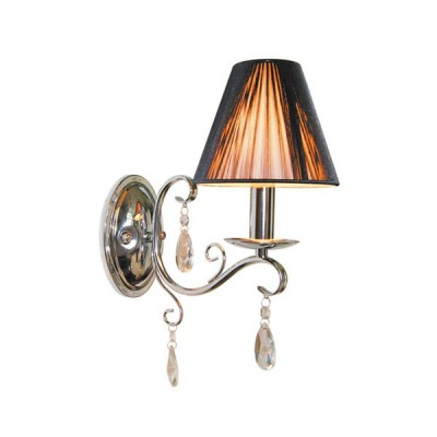 Светильник бра Arte Lamp A3840AP-1CC RaffaEllaснятые с производства светильники<br><br><br>S освещ. до, м2: 3<br>Тип лампы: накаливания / энергосбережения / LED-светодиодная<br>Тип цоколя: E14<br>Цвет арматуры: хром<br>Количество ламп: 1<br>Ширина, мм: 140<br>Диаметр, мм мм: 270<br>Расстояние от стены, мм: 350<br>Высота, мм: 350<br>MAX мощность ламп, Вт: 40