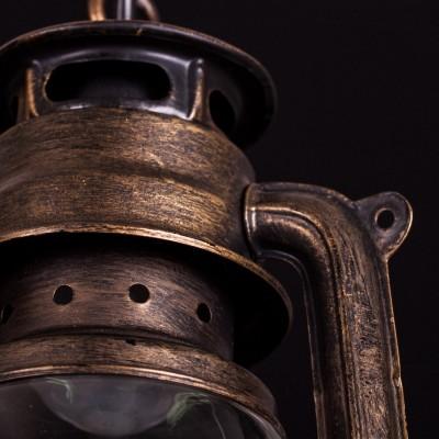 Потолочный светильник керосинка Arte lamp A3843SP-1BG GalataПодвесные<br>Традиционный русский светильник в виде керосинной лампы удивит Ваших гостей и привнесет уют в Ваш дом!<br><br>Установка на натяжной потолок: Да<br>S освещ. до, м2: 2<br>Крепление: Крюк<br>Тип товара: Люстра подвесная<br>Тип лампы: накаливания / энергосбережения / LED-светодиодная<br>Тип цоколя: E27<br>Количество ламп: 1<br>MAX мощность ламп, Вт: 40<br>Диаметр, мм мм: 170<br>Длина цепи/провода, мм: 730<br>Высота, мм: 310<br>Оттенок (цвет): прозрачный<br>Цвет арматуры: коричневый