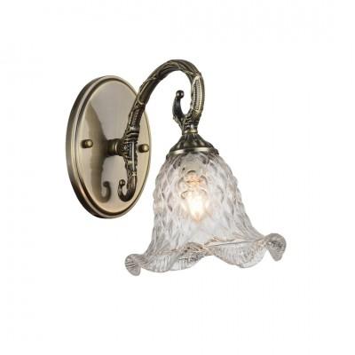 Светильник настенный бра Arte lamp A3902AP-1AB NUANCEКлассические<br><br><br>Тип лампы: Накаливания / энергосбережения / светодиодная<br>Тип цоколя: E14<br>Количество ламп: 1<br>MAX мощность ламп, Вт: 40<br>Размеры: H26xW30xL30<br>Цвет арматуры: бронзовый