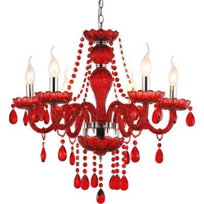 Люстра красная Arte lamp A3964LM-6RD TeatroПодвесные<br>Компания «Светодом» предлагает широкий ассортимент люстр от известных производителей. Представленные в нашем каталоге товары выполнены из современных материалов и обладают отличным качеством. Благодаря широкому ассортименту Вы сможете найти у нас люстру под любой интерьер. Мы предлагаем как классические варианты, так и современные модели, отличающиеся лаконичностью и простотой форм.  Стильная люстра Arte lamp A3964LM-6RD станет украшением любого дома. Эта модель от известного производителя не оставит равнодушным ценителей красивых и оригинальных предметов интерьера. Люстра Arte lamp A3964LM-6RD обеспечит равномерное распределение света по всей комнате. При выборе обратите внимание на характеристики, позволяющие приобрести наиболее подходящую модель. Купить понравившуюся люстру по доступной цене Вы можете в интернет-магазине «Светодом».<br><br>Установка на натяжной потолок: Да<br>S освещ. до, м2: 24<br>Крепление: Крюк<br>Тип лампы: накаливания / энергосбережения / LED-светодиодная<br>Тип цоколя: E14<br>Цвет арматуры: красный<br>Количество ламп: 6<br>Диаметр, мм мм: 580<br>Высота, мм: 560 - 1000<br>MAX мощность ламп, Вт: 60