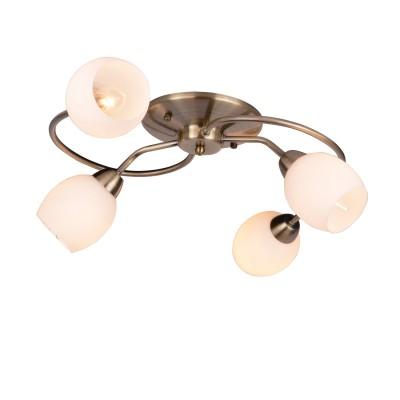 Светильник потолочный Arte lamp A4033PL-4AB Silvanaлюстры потолочные классические<br><br><br>S освещ. до, м2: 8<br>Тип лампы: Накаливания / энергосбережения / светодиодная<br>Тип цоколя: E14<br>Цвет арматуры: античный бронзовый<br>Количество ламп: 4<br>Диаметр, мм мм: 550<br>Размеры: D55<br>Длина, мм: 550<br>Высота, мм: 150<br>MAX мощность ламп, Вт: 40W<br>Общая мощность, Вт: 40W