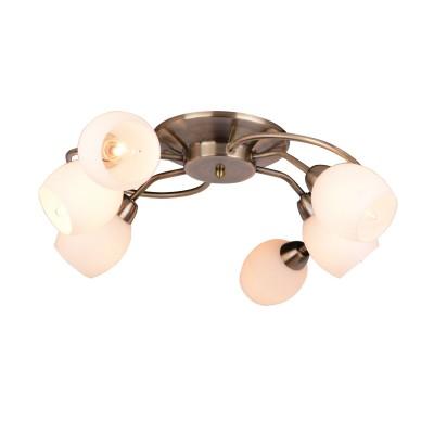 A4033PL-6AB Arte lamp СветильникПотолочные<br><br><br>Тип лампы: Накаливания / энергосбережения / светодиодная<br>Тип цоколя: E14<br>Цвет арматуры: античный бронзовый<br>Количество ламп: 6<br>Диаметр, мм мм: 650<br>Размеры: D65<br>Длина, мм: 650<br>Высота, мм: 150<br>MAX мощность ламп, Вт: 40W<br>Общая мощность, Вт: 40W