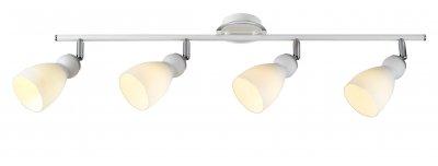 Светильник Arte lamp A4037PL-4WH BulboС 4 лампами<br><br><br>Тип товара: Светильник<br>Тип лампы: галогенная<br>Тип цоколя: G9<br>Количество ламп: 4<br>Ширина, мм: 110<br>MAX мощность ламп, Вт: 40<br>Длина, мм: 800<br>Высота, мм: 200<br>Цвет арматуры: серебристый