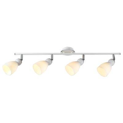 Светильник Arte lamp A4037PL-4WH BulboС 4 лампами<br>Светильники-споты – это оригинальные изделия с современным дизайном. Они позволяют не ограничивать свою фантазию при выборе освещения для интерьера. Такие модели обеспечивают достаточно качественный свет. Благодаря компактным размерам Вы можете использовать несколько спотов для одного помещения.  Интернет-магазин «Светодом» предлагает необычный светильник-спот ARTE Lamp A4037PL-4WH по привлекательной цене. Эта модель станет отличным дополнением к люстре, выполненной в том же стиле. Перед оформлением заказа изучите характеристики изделия.  Купить светильник-спот ARTE Lamp A4037PL-4WH в нашем онлайн-магазине Вы можете либо с помощью формы на сайте, либо по указанным выше телефонам. Обратите внимание, что у нас склады не только в Москве и Екатеринбурге, но и других городах России.<br><br>S освещ. до, м2: 8<br>Тип лампы: галогенная<br>Тип цоколя: G9<br>Цвет арматуры: серебристый<br>Количество ламп: 4<br>Ширина, мм: 110<br>Длина, мм: 800<br>Высота, мм: 200<br>MAX мощность ламп, Вт: 40