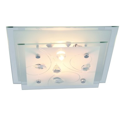 Светильник Arte lamp A4058PL-1CC SNOW WHITEКвадратные<br>Настенно-потолочные светильники – это универсальные осветительные варианты, которые подходят для вертикального и горизонтального монтажа. В интернет-магазине «Светодом» Вы можете приобрести подобные модели по выгодной стоимости. В нашем каталоге представлены как бюджетные варианты, так и эксклюзивные изделия от производителей, которые уже давно заслужили доверие дизайнеров и простых покупателей.  Настенно-потолочный светильник ARTELamp A4058PL-1CC станет прекрасным дополнением к основному освещению. Благодаря качественному исполнению и применению современных технологий при производстве эта модель будет радовать Вас своим привлекательным внешним видом долгое время. Приобрести настенно-потолочный светильник ARTELamp A4058PL-1CC можно, находясь в любой точке России. Компания «Светодом» осуществляет доставку заказов не только по Москве и Екатеринбургу, но и в остальные города.<br><br>S освещ. до, м2: 1<br>Тип лампы: Накаливания / энергосбережения / светодиодная<br>Тип цоколя: E27<br>Количество ламп: 1<br>MAX мощность ламп, Вт: 60<br>Размеры: H9xW24xL24<br>Цвет арматуры: серебристый