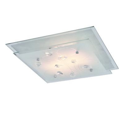 Светильник Arte lamp A4058PL-2CC SNOW WHITEКвадратные<br>Настенно-потолочные светильники – это универсальные осветительные варианты, которые подходят для вертикального и горизонтального монтажа. В интернет-магазине «Светодом» Вы можете приобрести подобные модели по выгодной стоимости. В нашем каталоге представлены как бюджетные варианты, так и эксклюзивные изделия от производителей, которые уже давно заслужили доверие дизайнеров и простых покупателей.  Настенно-потолочный светильник ARTELamp A4058PL-2CC станет прекрасным дополнением к основному освещению. Благодаря качественному исполнению и применению современных технологий при производстве эта модель будет радовать Вас своим привлекательным внешним видом долгое время. Приобрести настенно-потолочный светильник ARTELamp A4058PL-2CC можно, находясь в любой точке России.<br><br>S освещ. до, м2: 6<br>Тип лампы: Накаливания / энергосбережения / светодиодная<br>Тип цоколя: E27<br>Количество ламп: 2<br>MAX мощность ламп, Вт: 60<br>Размеры: H9xW34xL34<br>Цвет арматуры: серебристый