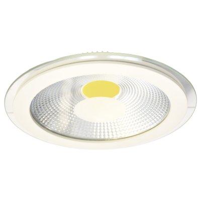 Светильник Arte lamp A4205PL-1WH RaggioСветодиодные<br><br><br>Тип товара: Светильник встраиваемый<br>Скидка, %: 19<br>Тип лампы: LED<br>MAX мощность ламп, Вт: 5<br>Диаметр, мм мм: 97<br>Диаметр врезного отверстия, мм: 75<br>Высота, мм: 10