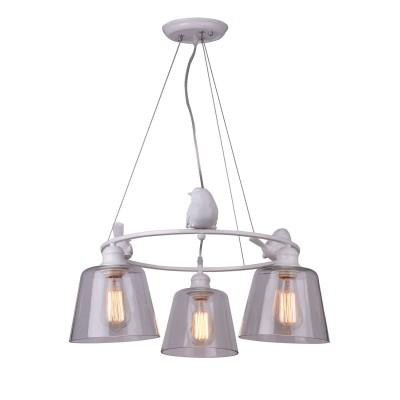 A4289LM-3WH Arte lamp СветильникПодвесные<br><br><br>Крепление: Планка<br>Тип лампы: Накаливания / энергосбережения / светодиодная<br>Тип цоколя: E27<br>Цвет арматуры: БЕЛЫЙ<br>Количество ламп: 3<br>Диаметр, мм мм: 600<br>Длина цепи/провода, мм: 350<br>Размеры: D600*H280<br>Длина, мм: 600<br>Высота, мм: 280<br>MAX мощность ламп, Вт: 40W<br>Общая мощность, Вт: 40W