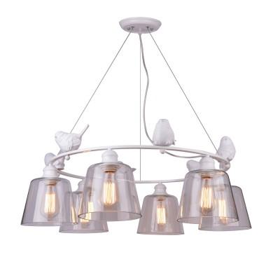A4289LM-6WH Arte lamp СветильникПодвесные<br><br><br>Крепление: Планка<br>Тип лампы: Накаливания / энергосбережения / светодиодная<br>Тип цоколя: E27<br>Цвет арматуры: БЕЛЫЙ<br>Количество ламп: 6<br>Диаметр, мм мм: 280<br>Длина цепи/провода, мм: 300<br>Размеры: D830*H280<br>Длина, мм: 830<br>Высота, мм: 280<br>MAX мощность ламп, Вт: 40W<br>Общая мощность, Вт: 40W