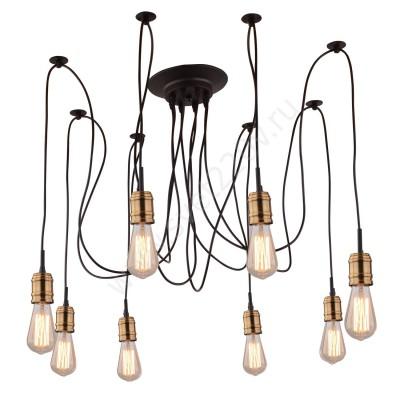 A4290SP-7BK Arte lamp СветильникПодвесные<br><br><br>Крепление: Планка<br>Тип цоколя: E27<br>Цвет арматуры: ЧЕРНЫЙ<br>Количество ламп: 7<br>Диаметр, мм мм: 850<br>Размеры: шнур по 2 м<br>Длина, мм: 850<br>Высота, мм: 450<br>MAX мощность ламп, Вт: 40W<br>Общая мощность, Вт: 40W