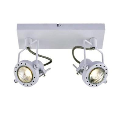 Светильник настенный Arte lamp A4300AP-2WH Costruttoreдвойные светильники споты<br><br><br>S освещ. до, м2: 5<br>Тип цоколя: GU10<br>Цвет арматуры: БЕЛЫЙ<br>Количество ламп: 2<br>Диаметр, мм мм: 150<br>Длина, мм: 270<br>Высота, мм: 80<br>MAX мощность ламп, Вт: 50W<br>Общая мощность, Вт: 50W