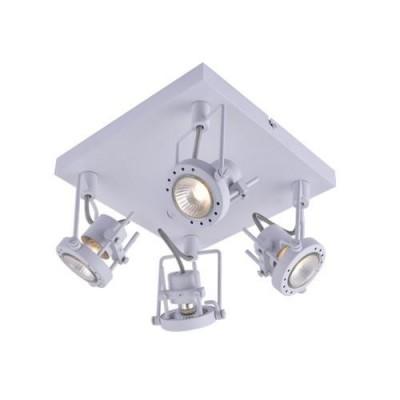 A4300PL-4WH Arte lamp СветильникС 4 лампами<br><br><br>Тип цоколя: GU10<br>Количество ламп: 4<br>MAX мощность ламп, Вт: 50W<br>Диаметр, мм мм: 240<br>Длина, мм: 240<br>Высота, мм: 150<br>Цвет арматуры: БЕЛЫЙ<br>Общая мощность, Вт: 50W