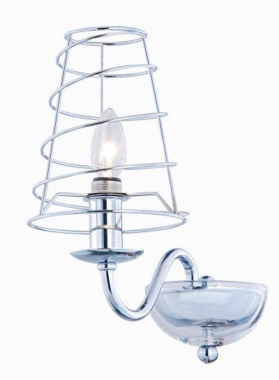 Светильник Arte lamp A4320AP-1CC CageСовременные<br><br><br>Тип лампы: накал-я - энергосбер-я<br>Тип цоколя: E14<br>Количество ламп: 1<br>Ширина, мм: 150<br>MAX мощность ламп, Вт: 40<br>Длина, мм: 280<br>Высота, мм: 270<br>Цвет арматуры: серебристый