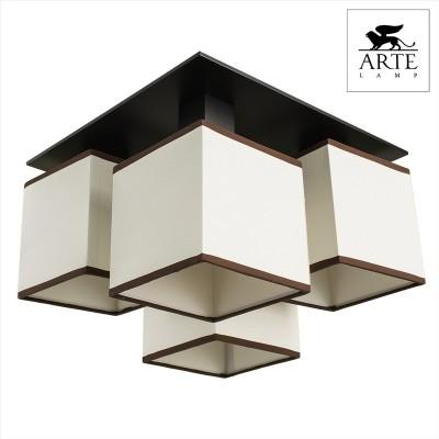 Люстра Arte lamp A4402PL-4BK QuadroПотолочные<br><br><br>Установка на натяжной потолок: Да<br>S освещ. до, м2: 11<br>Крепление: Планка<br>Тип товара: Светильник потолочный<br>Скидка, %: 11<br>Тип лампы: накаливания / энергосбережения / LED-светодиодная<br>Тип цоколя: E14<br>Количество ламп: 4<br>Ширина, мм: 350<br>MAX мощность ламп, Вт: 40<br>Диаметр, мм мм: 350<br>Высота, мм: 260