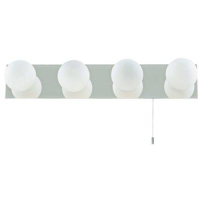 Светильник бра Arte Lamp A4444AP-4CC AquaДлинные<br>Настенно потолочный светильник ARTE Lamp (арте ламп) A4444AP-4CC подходит как для установки в вертикальном положении - на стены, так и для установки в горизонтальном - на потолок. Для установки настенно потолочных светильников на натяжной потолок необходимо использовать светодиодные лампы LED, которые экономнее ламп Ильича (накаливания) в 10 раз, выделяют мало тепла и не дадут расплавиться Вашему потолку.<br><br>S освещ. до, м2: 11<br>Тип лампы: галогенная / LED-светодиодная<br>Тип цоколя: G9<br>Количество ламп: 4<br>Ширина, мм: 450<br>MAX мощность ламп, Вт: 40<br>Диаметр, мм мм: 150<br>Расстояние от стены, мм: 100<br>Высота, мм: 100<br>Цвет арматуры: серебристый
