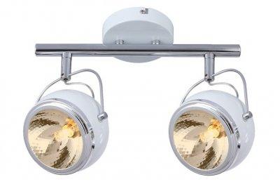 Светильник потолочный Arte lamp A4509PL-2WH ORBITERДвойные<br><br><br>Тип товара: Светильник потолочный<br>Тип цоколя: G9<br>MAX мощность ламп, Вт: 33<br>Размеры: H22xW14xL36<br>Цвет арматуры: белый