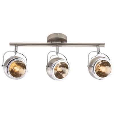 Светильник потолочный Arte lamp A4509PL-3SS ORBITERТройные<br>Светильники-споты – это оригинальные изделия с современным дизайном. Они позволяют не ограничивать свою фантазию при выборе освещения для интерьера. Такие модели обеспечивают достаточно качественный свет. Благодаря компактным размерам Вы можете использовать несколько спотов для одного помещения.  Интернет-магазин «Светодом» предлагает необычный светильник-спот ARTE Lamp A4509PL-3SS по привлекательной цене. Эта модель станет отличным дополнением к люстре, выполненной в том же стиле. Перед оформлением заказа изучите характеристики изделия.  Купить светильник-спот ARTE Lamp A4509PL-3SS в нашем онлайн-магазине Вы можете либо с помощью формы на сайте, либо по указанным выше телефонам. Обратите внимание, что у нас склады не только в Москве и Екатеринбурге, но и других городах России.<br><br>S освещ. до, м2: 5<br>Тип цоколя: G9<br>Цвет арматуры: серебристый<br>Количество ламп: 3<br>Размеры: H22xW14xL58<br>MAX мощность ламп, Вт: 33