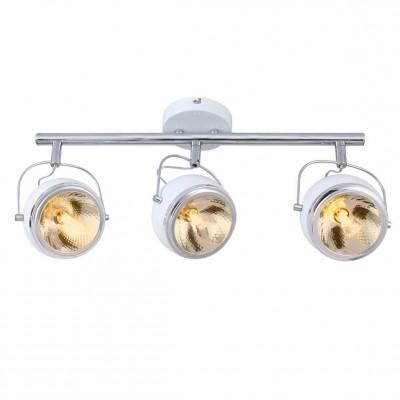 Светильник потолочный Arte lamp A4509PL-3WH ORBITERТройные<br>Светильники-споты – это оригинальные изделия с современным дизайном. Они позволяют не ограничивать свою фантазию при выборе освещения для интерьера. Такие модели обеспечивают достаточно качественный свет. Благодаря компактным размерам Вы можете использовать несколько спотов для одного помещения.  Интернет-магазин «Светодом» предлагает необычный светильник-спот ARTE Lamp A4509PL-3WH по привлекательной цене. Эта модель станет отличным дополнением к люстре, выполненной в том же стиле. Перед оформлением заказа изучите характеристики изделия.  Купить светильник-спот ARTE Lamp A4509PL-3WH в нашем онлайн-магазине Вы можете либо с помощью формы на сайте, либо по указанным выше телефонам. Обратите внимание, что у нас склады не только в Москве и Екатеринбурге, но и других городах России.<br><br>S освещ. до, м2: 5<br>Тип цоколя: G9<br>Цвет арматуры: белый<br>Размеры: H22xW14xL58<br>MAX мощность ламп, Вт: 33
