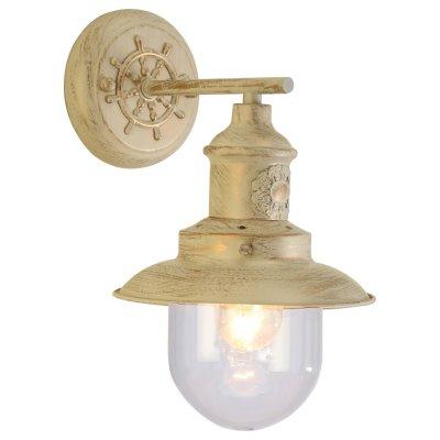 Светильник бра Arte lamp A4524AP-1WG SailorМорской стиль<br><br><br>Тип лампы: накал-я - энергосбер-я<br>Тип цоколя: E27<br>Количество ламп: 1<br>Ширина, мм: 180<br>MAX мощность ламп, Вт: 60<br>Длина, мм: 200<br>Высота, мм: 280<br>Цвет арматуры: бежевый