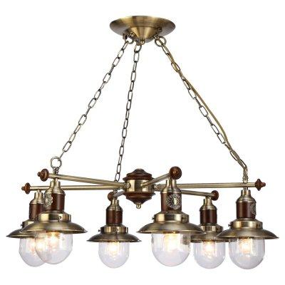 Светильник Arte lamp A4524LM-6AB SailorПодвесные<br>Компания «Светодом» предлагает широкий ассортимент люстр от известных производителей. Представленные в нашем каталоге товары выполнены из современных материалов и обладают отличным качеством. Благодаря широкому ассортименту Вы сможете найти у нас люстру под любой интерьер. Мы предлагаем как классические варианты, так и современные модели, отличающиеся лаконичностью и простотой форм. <br>Стильная люстра Arte lamp A4524LM-6AB станет украшением любого дома. Эта модель от известного производителя не оставит равнодушным ценителей красивых и оригинальных предметов интерьера. Люстра Arte lamp A4524LM-6AB обеспечит равномерное распределение света по всей комнате. При выборе обратите внимание на характеристики, позволяющие приобрести наиболее подходящую модель. <br>Купить понравившуюся люстру по доступной цене Вы можете в интернет-магазине «Светодом».<br><br>Установка на натяжной потолок: Да<br>S освещ. до, м2: 18<br>Крепление: Планка<br>Тип лампы: накал-я - энергосбер-я<br>Тип цоколя: E27<br>Количество ламп: 6<br>MAX мощность ламп, Вт: 60<br>Диаметр, мм мм: 720<br>Высота, мм: 250<br>Цвет арматуры: бронзовый
