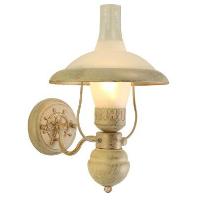 Светильник керосинка Arte lamp A4533AP-1WG CapannaРустика<br><br><br>Тип лампы: накал-я - энергосбер-я<br>Тип цоколя: E27<br>Количество ламп: 1<br>Ширина, мм: 220<br>MAX мощность ламп, Вт: 60<br>Длина, мм: 300<br>Высота, мм: 360<br>Цвет арматуры: бежевый с золотистой патиной