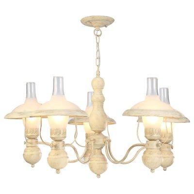 Люстра керосинка Arte lamp A4533LM-5WG CapannaПодвесные<br>Компания «Светодом» предлагает широкий ассортимент люстр от известных производителей. Представленные в нашем каталоге товары выполнены из современных материалов и обладают отличным качеством. Благодаря широкому ассортименту Вы сможете найти у нас люстру под любой интерьер. Мы предлагаем как классические варианты, так и современные модели, отличающиеся лаконичностью и простотой форм.  Стильная люстра Arte lamp A4533LM-5WG станет украшением любого дома. Эта модель от известного производителя не оставит равнодушным ценителей красивых и оригинальных предметов интерьера. Люстра Arte lamp A4533LM-5WG обеспечит равномерное распределение света по всей комнате. При выборе обратите внимание на характеристики, позволяющие приобрести наиболее подходящую модель.  Купить понравившуюся люстру по доступной цене Вы можете в интернет-магазине «Светодом».<br><br>Установка на натяжной потолок: Да<br>S освещ. до, м2: 15<br>Крепление: Планка<br>Тип лампы: накал-я - энергосбер-я<br>Тип цоколя: E27<br>Количество ламп: 5<br>MAX мощность ламп, Вт: 60<br>Диаметр, мм мм: 820<br>Высота, мм: 460<br>Цвет арматуры: бежевый с золотистой патиной