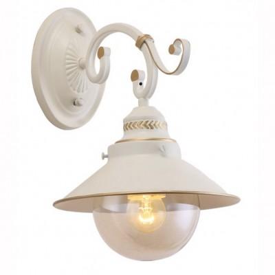 Светильник Arte lamp A4577AP-1WG GRAZIOSOКлассические<br><br><br>Тип лампы: Накаливания / энергосбережения / светодиодная<br>Тип цоколя: E27<br>Цвет арматуры: белый с золотистой патиной<br>Количество ламп: 1<br>Размеры: H32xW28xL28<br>MAX мощность ламп, Вт: 60