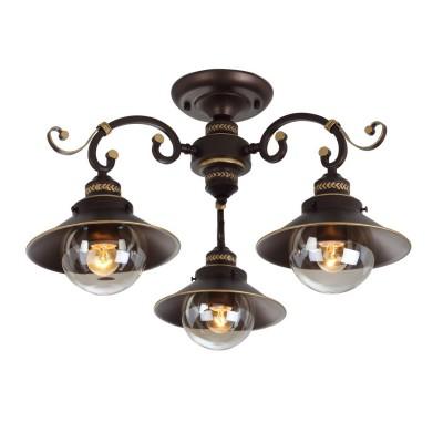 Светильник Arte lamp A4577PL-3CK GRAZIOSOпотолочные люстры кантри стиля<br>Компания «Светодом» предлагает широкий ассортимент люстр от известных производителей. Представленные в нашем каталоге товары выполнены из современных материалов и обладают отличным качеством. Благодаря широкому ассортименту Вы сможете найти у нас люстру под любой интерьер. Мы предлагаем как классические варианты, так и современные модели, отличающиеся лаконичностью и простотой форм. <br>Стильная люстра Arte lamp A4577PL-3CK станет украшением любого дома. Эта модель от известного производителя не оставит равнодушным ценителей красивых и оригинальных предметов интерьера. Люстра Arte lamp A4577PL-3CK обеспечит равномерное распределение света по всей комнате. При выборе обратите внимание на характеристики, позволяющие приобрести наиболее подходящую модель. <br>Купить понравившуюся люстру по доступной цене Вы можете в интернет-магазине «Светодом».<br><br>Установка на натяжной потолок: Да<br>S освещ. до, м2: 9<br>Крепление: Планка<br>Тип лампы: Накаливания / энергосбережения / светодиодная<br>Тип цоколя: E27<br>Цвет арматуры: коричневый<br>Количество ламп: 3<br>Диаметр, мм мм: 610<br>Размеры: H35xW61xL61<br>Высота, мм: 350<br>MAX мощность ламп, Вт: 60