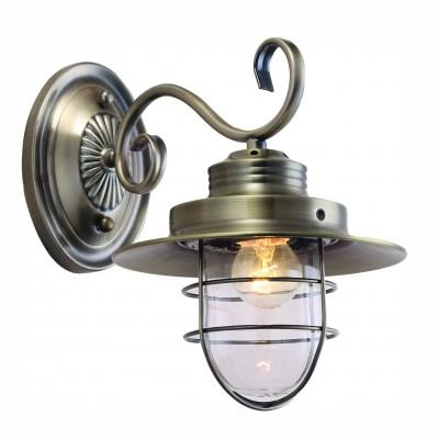 Светильник Arte lamp A4579AP-1AB LANTERNAКованые<br><br><br>Тип лампы: Накаливания / энергосбережения / светодиодная<br>Тип цоколя: E27<br>Количество ламп: 1<br>MAX мощность ламп, Вт: 60<br>Размеры: H27xW30xL30<br>Цвет арматуры: бронзовый