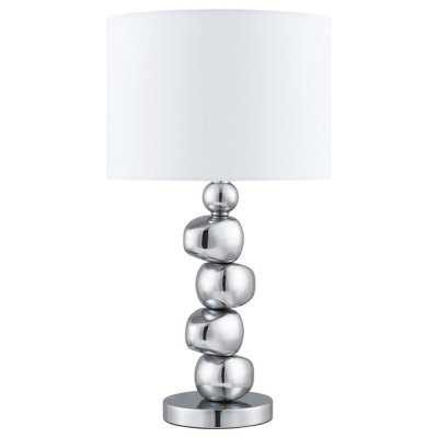 Светильник настольный Arte lamp A4610LT-1CC ChicС абажуром<br>Настольная лампа – это не просто источник дополнительного освещения, но и оригинальный элемент декора. Его можно установить в спальне, гостиной, кабинете и других комнатах. Интернет-магазин «Светодом» предлагает настольные лампы разных стилей по доступным ценам. Благодаря большому ассортименту Вы обязательно найдете в нашем каталоге именно ту модель, которую искали. <br> Настольная лампа Arte lamp A4610LT-1CC – прекрасный вариант для завершения интерьера. Ее можно включить одновременно с люстрой для более яркого освещения или без нее для создания уютной атмосферы, настраивающей на отдых. <br> Купить настольную лампу Arte lamp A4610LT-1CC Вы можете с помощью виртуальной «Корзины» или по контактным номерам, указанным на сайте.<br><br>S освещ. до, м2: 4<br>Тип лампы: накал-я - энергосбер-я<br>Тип цоколя: E27<br>Количество ламп: 1<br>Ширина, мм: 300<br>MAX мощность ламп, Вт: 60<br>Диаметр, мм мм: 300<br>Высота, мм: 550<br>Цвет арматуры: серебристый