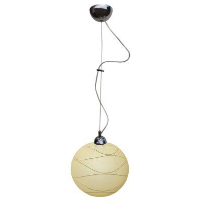 Светильник Arte lamp A4626SP-1CC CrocusОдиночные<br><br><br>S освещ. до, м2: 7<br>Тип товара: Светильник подвесной<br>Тип лампы: накаливания / энергосбережения / LED-светодиодная<br>Тип цоколя: E27<br>Количество ламп: 1<br>Ширина, мм: 250<br>MAX мощность ламп, Вт: 100<br>Диаметр, мм мм: 250<br>Длина цепи/провода, мм: 1000<br>Высота, мм: 250