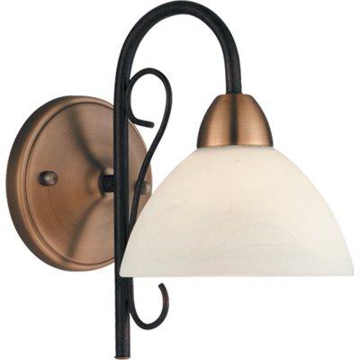 Светильник бра Arte Lamp A4711AP-1BR Blakeбра под старину<br><br><br>S освещ. до, м2: 4<br>Тип лампы: накаливания / энергосбережения / LED-светодиодная<br>Тип цоколя: E27<br>Цвет арматуры: коричневый<br>Количество ламп: 1<br>Ширина, мм: 170<br>Диаметр, мм мм: 250<br>Высота, мм: 290<br>MAX мощность ламп, Вт: 60