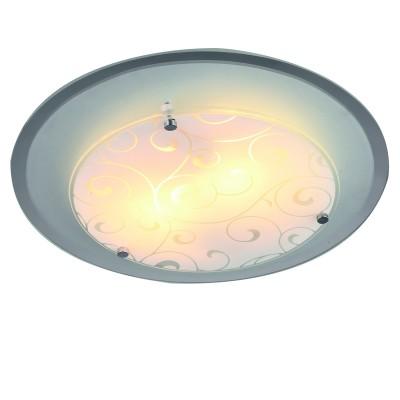 Светильник Arte lamp A4806PL-2CC ARIELКруглые<br><br><br>Тип товара: Светильник<br>Тип цоколя: E27<br>Количество ламп: 2<br>MAX мощность ламп, Вт: 60<br>Размеры: H9xW32xL32<br>Цвет арматуры: хром