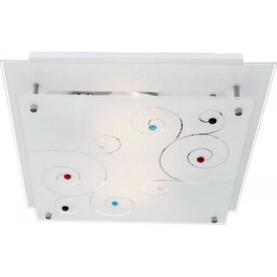 Светильник Arte lamp A4814PL-2CC ESMERALDAПотолочные<br><br><br>Установка на натяжной потолок: Ограничено<br>S освещ. до, м2: 6<br>Тип цоколя: E27<br>Цвет арматуры: серебристый хром<br>Количество ламп: 2<br>Ширина, мм: 320<br>Размеры: H9xW32xL32<br>Длина, мм: 320<br>Высота, мм: 90<br>MAX мощность ламп, Вт: 60