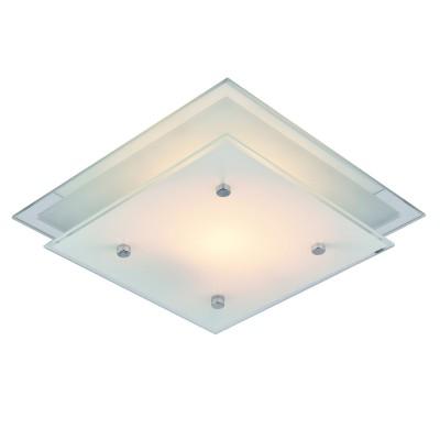 Светильник Arte lamp A4868PL-2CC RAPUNZELКвадратные<br>Настенно-потолочные светильники – это универсальные осветительные варианты, которые подходят для вертикального и горизонтального монтажа. В интернет-магазине «Светодом» Вы можете приобрести подобные модели по выгодной стоимости. В нашем каталоге представлены как бюджетные варианты, так и эксклюзивные изделия от производителей, которые уже давно заслужили доверие дизайнеров и простых покупателей.  Настенно-потолочный светильник ARTELamp A4868PL-2CC станет прекрасным дополнением к основному освещению. Благодаря качественному исполнению и применению современных технологий при производстве эта модель будет радовать Вас своим привлекательным внешним видом долгое время. Приобрести настенно-потолочный светильник ARTELamp A4868PL-2CC можно, находясь в любой точке России.<br><br>S освещ. до, м2: 6<br>Тип лампы: Накаливания / энергосбережения / светодиодная<br>Тип цоколя: E27<br>Цвет арматуры: серебристый<br>Количество ламп: 2<br>Размеры: H9xW34xL34<br>MAX мощность ламп, Вт: 60