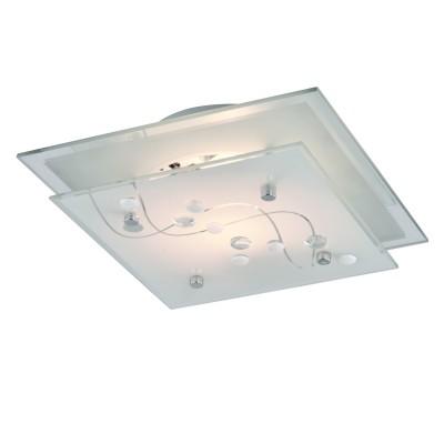 Светильник Arte lamp A4891PL-1CC BELLEКвадратные<br>Настенно-потолочные светильники – это универсальные осветительные варианты, которые подходят для вертикального и горизонтального монтажа. В интернет-магазине «Светодом» Вы можете приобрести подобные модели по выгодной стоимости. В нашем каталоге представлены как бюджетные варианты, так и эксклюзивные изделия от производителей, которые уже давно заслужили доверие дизайнеров и простых покупателей.  Настенно-потолочный светильник ARTELamp A4891PL-1CC станет прекрасным дополнением к основному освещению. Благодаря качественному исполнению и применению современных технологий при производстве эта модель будет радовать Вас своим привлекательным внешним видом долгое время. Приобрести настенно-потолочный светильник ARTELamp A4891PL-1CC можно, находясь в любой точке России.<br><br>S освещ. до, м2: 3<br>Тип лампы: Накаливания / энергосбережения / светодиодная<br>Тип цоколя: E27<br>Цвет арматуры: серебристый<br>Количество ламп: 1<br>Размеры: H9xW24xL24<br>MAX мощность ламп, Вт: 60