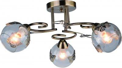 Светильник Arte lamp A5004PL-3AB ALESSANDRAсовременные потолочные люстры модерн<br>Компания «Светодом» предлагает широкий ассортимент люстр от известных производителей. Представленные в нашем каталоге товары выполнены из современных материалов и обладают отличным качеством. Благодаря широкому ассортименту Вы сможете найти у нас люстру под любой интерьер. Мы предлагаем как классические варианты, так и современные модели, отличающиеся лаконичностью и простотой форм. <br>Стильная люстра Arte lamp A5004PL-3AB станет украшением любого дома. Эта модель от известного производителя не оставит равнодушным ценителей красивых и оригинальных предметов интерьера. Люстра Arte lamp A5004PL-3AB обеспечит равномерное распределение света по всей комнате. При выборе обратите внимание на характеристики, позволяющие приобрести наиболее подходящую модель. <br>Купить понравившуюся люстру по доступной цене Вы можете в интернет-магазине «Светодом».<br><br>Установка на натяжной потолок: Да<br>S освещ. до, м2: 6<br>Крепление: Планка<br>Тип лампы: Накаливания / энергосбережения / светодиодная<br>Тип цоколя: E14<br>Цвет арматуры: бронзовый<br>Количество ламп: 3<br>Диаметр, мм мм: 500<br>Размеры: H28xW50xL50<br>Высота, мм: 280<br>MAX мощность ламп, Вт: 40