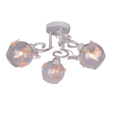 A5004PL-3WG Arte lamp СветильникПотолочные<br><br><br>Установка на натяжной потолок: Да<br>S освещ. до, м2: 6<br>Тип цоколя: E14<br>Количество ламп: 3<br>MAX мощность ламп, Вт: 40W<br>Диаметр, мм мм: 500<br>Размеры: H18*W23<br>Длина, мм: 500<br>Высота, мм: 200<br>Цвет арматуры: белый-ЗОЛОТОЙ<br>Общая мощность, Вт: 40W