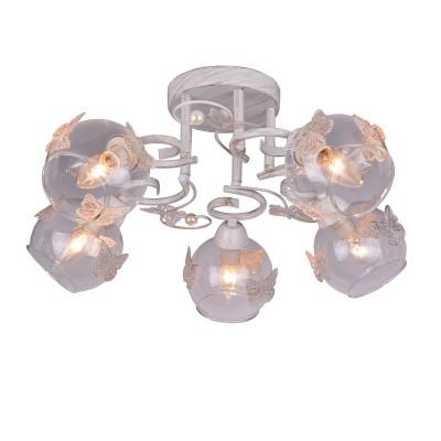 A5004PL-5WG Arte lamp СветильникПотолочные<br><br><br>Установка на натяжной потолок: Да<br>S освещ. до, м2: 10<br>Тип цоколя: E14<br>Количество ламп: 5<br>MAX мощность ламп, Вт: 40W<br>Диаметр, мм мм: 550<br>Размеры: D550<br>Длина, мм: 550<br>Высота, мм: 200<br>Цвет арматуры: белый-ЗОЛОТОЙ<br>Общая мощность, Вт: 40W