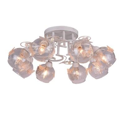 A5004PL-8WG Arte lamp СветильникПотолочные<br><br><br>Установка на натяжной потолок: Да<br>S освещ. до, м2: 16<br>Тип цоколя: E14<br>Количество ламп: 8<br>MAX мощность ламп, Вт: 40W<br>Диаметр, мм мм: 650<br>Размеры: D650<br>Длина, мм: 650<br>Высота, мм: 200<br>Цвет арматуры: белый-ЗОЛОТОЙ<br>Общая мощность, Вт: 40W