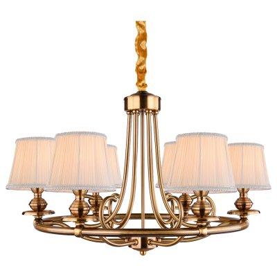 Светильник Arte lamp A5012LM-6RB EmpireПодвесные<br>Компания «Светодом» предлагает широкий ассортимент люстр от известных производителей. Представленные в нашем каталоге товары выполнены из современных материалов и обладают отличным качеством. Благодаря широкому ассортименту Вы сможете найти у нас люстру под любой интерьер. Мы предлагаем как классические варианты, так и современные модели, отличающиеся лаконичностью и простотой форм.  Стильная люстра Arte lamp A5012LM-6RB станет украшением любого дома. Эта модель от известного производителя не оставит равнодушным ценителей красивых и оригинальных предметов интерьера. Люстра Arte lamp A5012LM-6RB обеспечит равномерное распределение света по всей комнате. При выборе обратите внимание на характеристики, позволяющие приобрести наиболее подходящую модель. Купить понравившуюся люстру по доступной цене Вы можете в интернет-магазине «Светодом».<br><br>Установка на натяжной потолок: Да<br>S освещ. до, м2: 12<br>Крепление: Крюк<br>Тип лампы: накал-я - энергосбер-я<br>Тип цоколя: E14<br>Количество ламп: 6<br>MAX мощность ламп, Вт: 40<br>Диаметр, мм мм: 730<br>Высота, мм: 460<br>Цвет арматуры: бронзовый