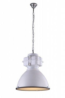 Подвесной светильник Arte lamp A5014SP-1WH LoftПодвесные<br><br><br>Установка на натяжной потолок: Да<br>S освещ. до, м2: 3<br>Крепление: Крюк<br>Тип товара: Люстра подвесная<br>Тип лампы: накаливания / энергосбережения / LED-светодиодная<br>Тип цоколя: E27<br>Количество ламп: 1<br>MAX мощность ламп, Вт: 60<br>Диаметр, мм мм: 480<br>Длина цепи/провода, мм: 940<br>Высота, мм: 580<br>Цвет арматуры: белый