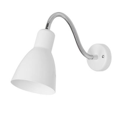 Светильник настенный бра Arte lamp A5048AP-1WH MERCOLEDСветильники на гибкой ножке<br><br><br>Тип цоколя: E27<br>Цвет арматуры: белый<br>Количество ламп: 1<br>Размеры: H21xW11xL33<br>MAX мощность ламп, Вт: 60