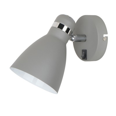 A5049AP-1GY Arte lamp СветильникОдиночные<br><br><br>S освещ. до, м2: 2<br>Тип цоколя: E27<br>Цвет арматуры: СЕРЫЙ<br>Количество ламп: 1<br>Диаметр, мм мм: 110<br>Размеры: 175*105*160<br>Длина, мм: 210<br>Высота, мм: 150<br>MAX мощность ламп, Вт: 40W<br>Общая мощность, Вт: 40W