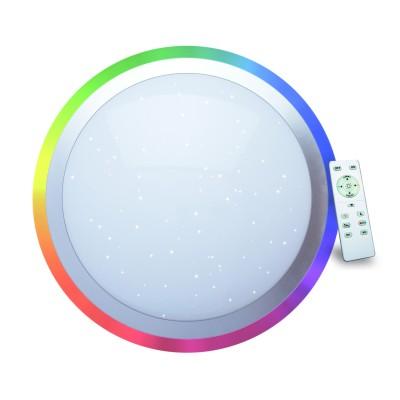 A5060PL-1WH Arte lamp СветильникКруглые<br><br><br>Цветовая t, К: 3000-6000K<br>Тип цоколя: LED<br>Количество ламп: 1<br>MAX мощность ламп, Вт: 60W<br>Диаметр, мм мм: 550<br>Размеры: diam 55x10<br>Длина, мм: 550<br>Высота, мм: 100<br>Цвет арматуры: БЕЛЫЙ
