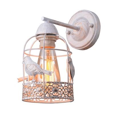 A5090AP-1WG Arte lamp СветильникФлористика<br><br><br>Тип цоколя: E27<br>Количество ламп: 1<br>MAX мощность ламп, Вт: 40W<br>Диаметр, мм мм: 110<br>Размеры: D120<br>Длина, мм: 210<br>Высота, мм: 250<br>Цвет арматуры: белый-ЗОЛОТОЙ<br>Общая мощность, Вт: 40W